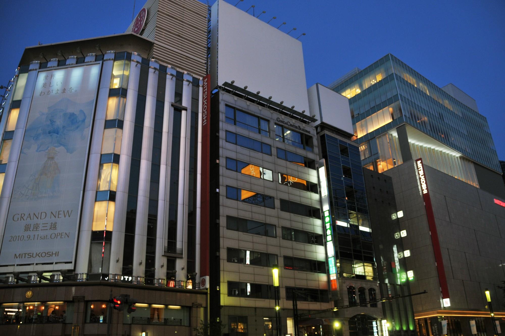 銀座を言えば銀ブラ!:日本初の老舗百貨店と言えば