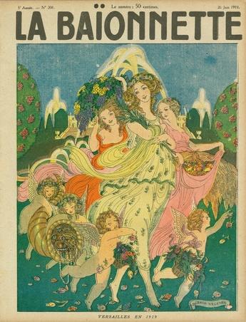 ゲアダ・ヴィーイナ(Gerda Wegener)「Versailles en 1919(1919年ヴェルサイユ)」『LA BAIONNETTE』1919年6月26日号